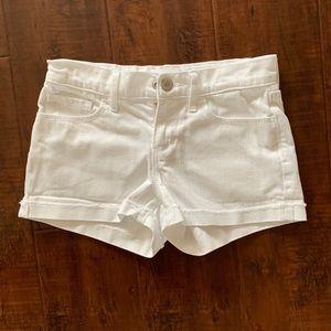 Old Navy white denim shorts, girls size 8.